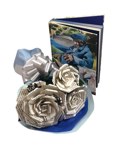 Gulliver's Travels Book Paper Flower Bouquet