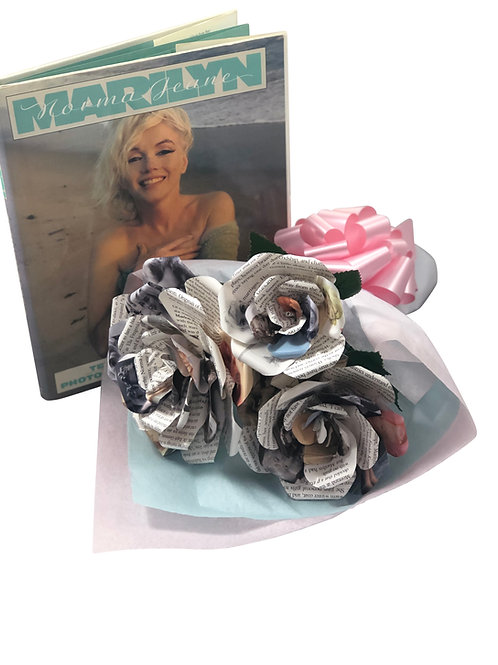 Marilyn Monroe Book Paper Bouquet