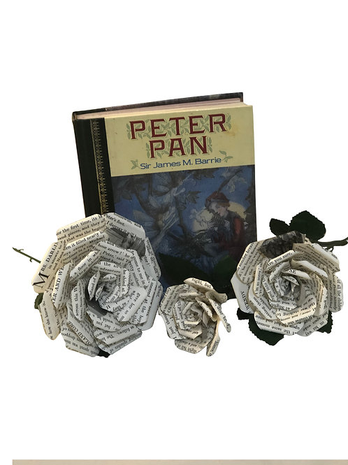 Peter Pan Book Paper Flowers in 3 Sizes