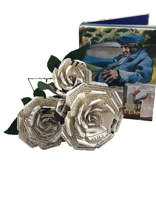 Gulliver's Travels Book Paper Flowers in 3 Sizes