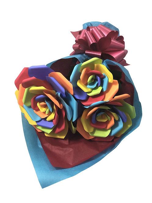 Rainbow Pride Paper Flower Bouquet