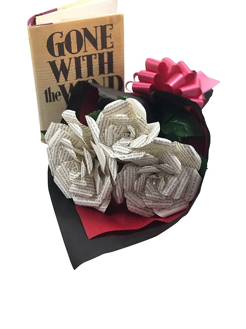 Gone With the Wind Book Paper Flower Bouquet