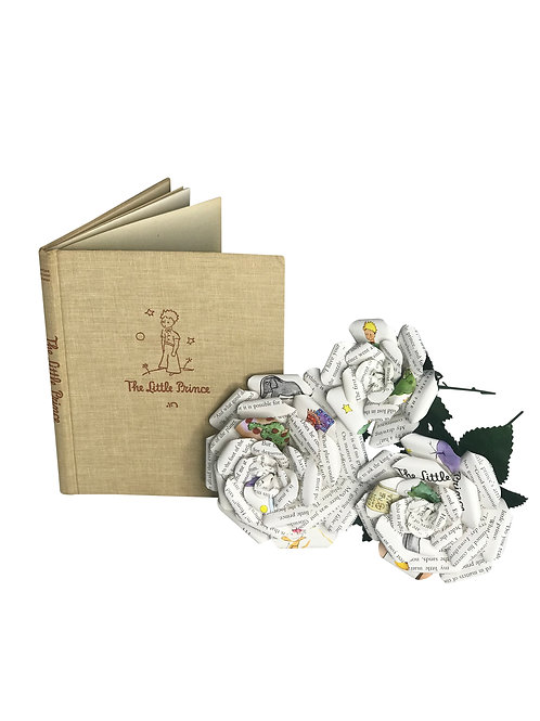 The Little Prince Book Paper Flowers in 3 Sizes
