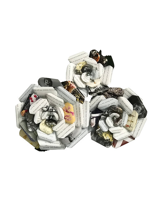 Audrey Hepburn Book Paper Flowers in 3 Sizes