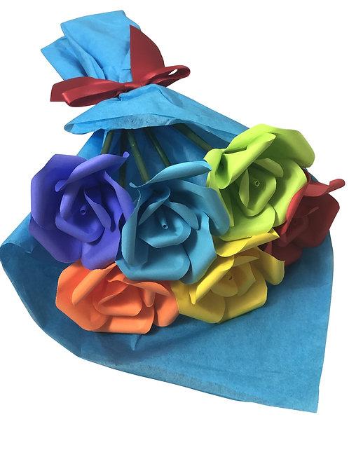 Rainbow Pride Petite Bouquet of Mini Roses