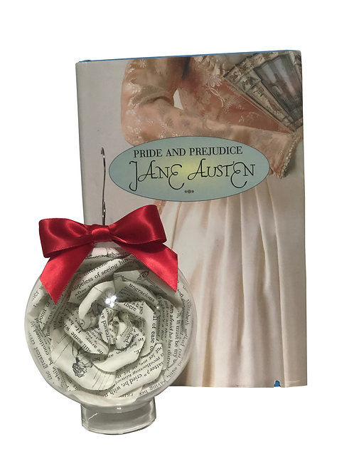 Pride and Prejudice Book Flower Ornament