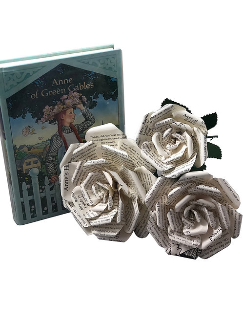 Anne of Green Gables Book Paper Flowers is 3 Sizes