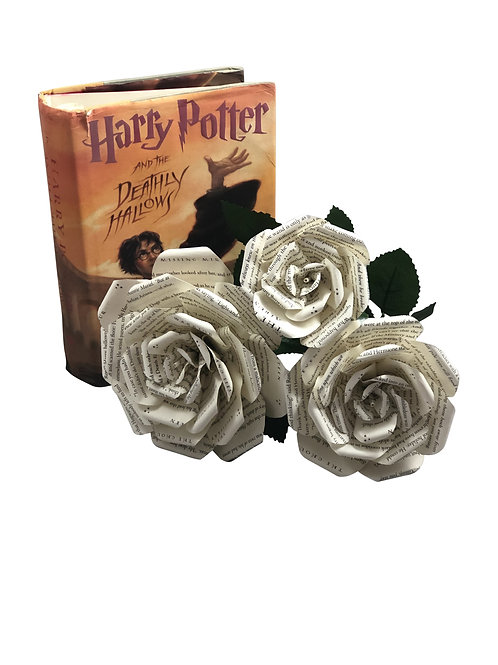 Harry Potter Book Page Flowers in 3 Sizes