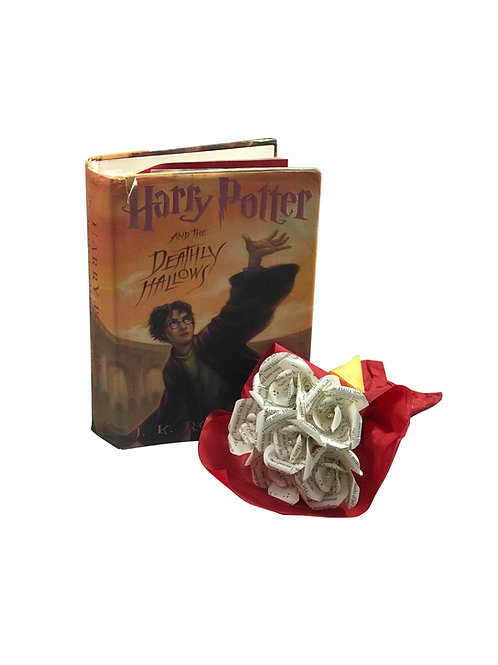 Harry Potter Petite Mini Rose Book Flower Bouquet