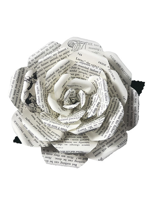 Pride and Prejudice Book Page Flowers in 3 Sizes