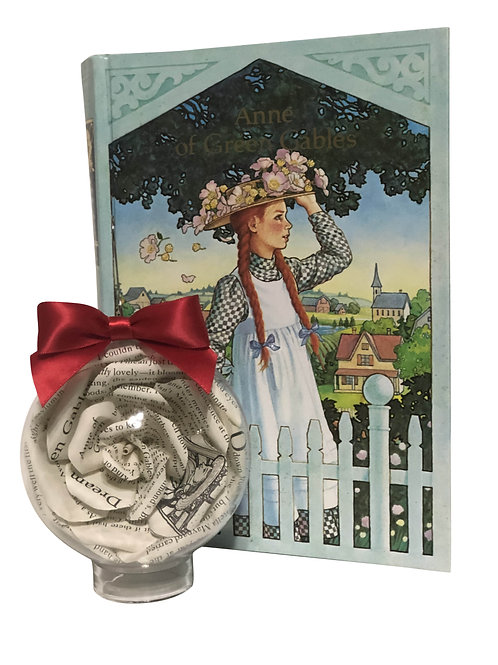 Anne of Green Gables Book Flower Ornament