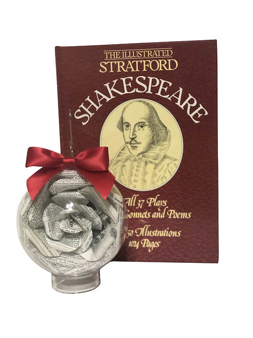 Shakespeare Book Flower Ornament