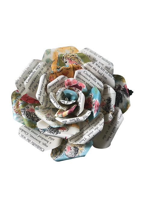 Cinderella Book Paper Flowers in 3 Sizes