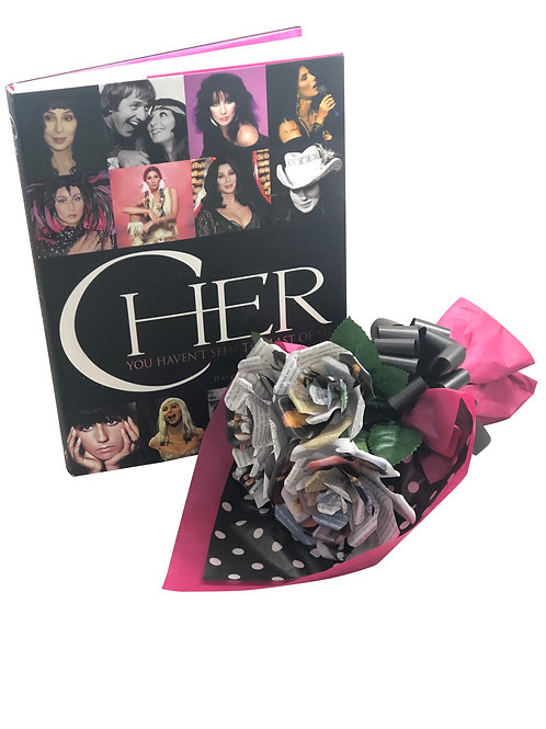 Cher Book Paper Flower Bouquet