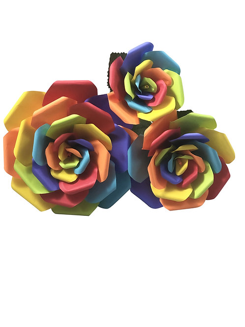 Rainbow Pride Paper Flowers in 3 Sizes