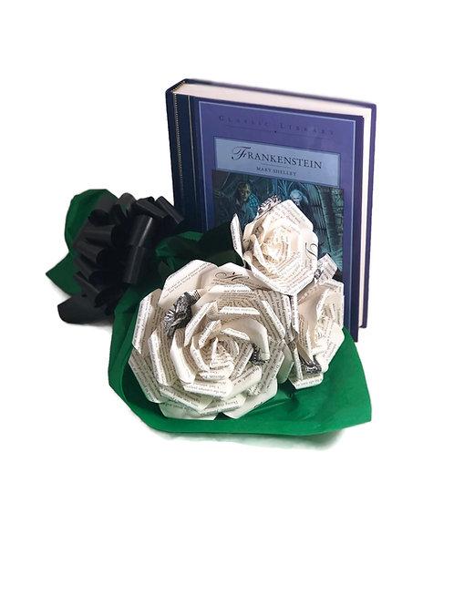 Frankenstein Book Paper Flower Bouquet