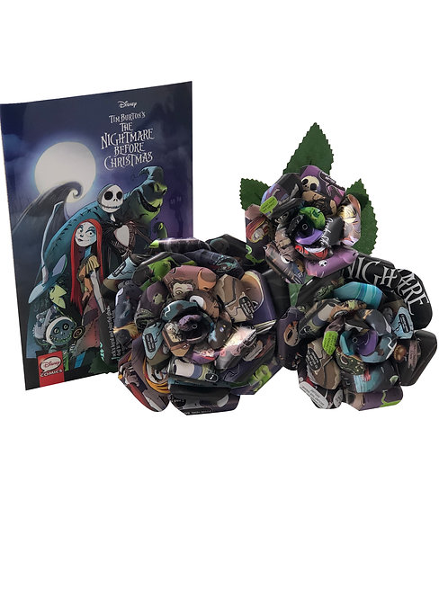 Nightmare Before Christmas Book Page Flowers in 3 Sizes