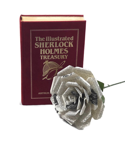 Sherlock Holmes Book Page Flowers in 3 Sizes