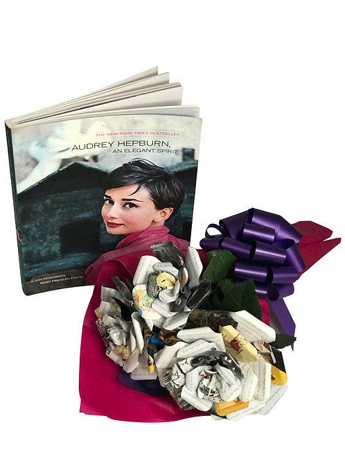 Audrey Hepburn Book Paper Flower Bouquet