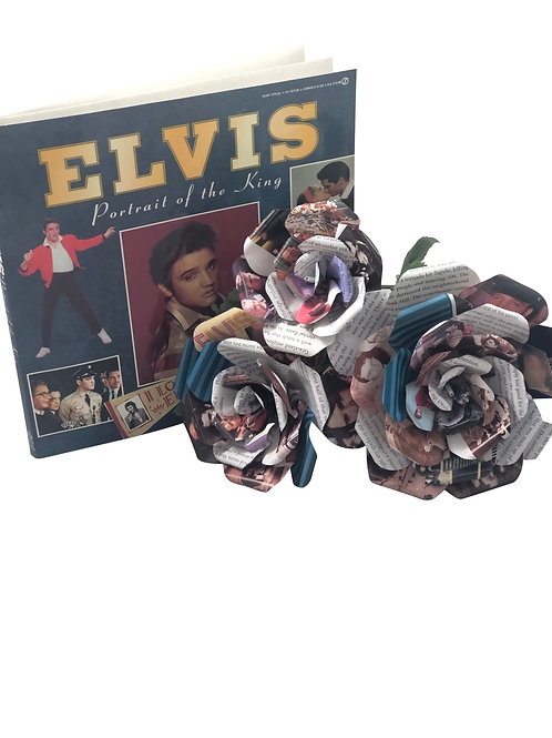 Elvis Presley Book Paper Flowers in 3 Sizes