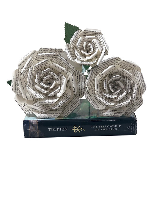 The Lord of the Rings Book Paper Flowers in 3 Sizes