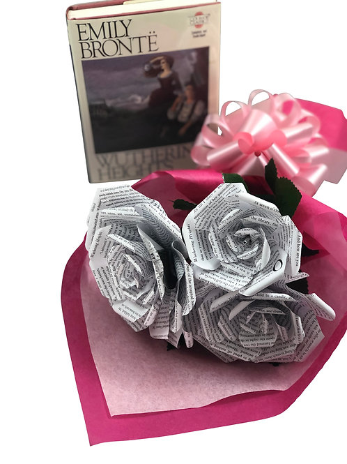 Wuthering Heights Book Paper Flower Bouquet