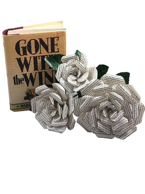 Gone with the Wind Book Paper Flowers in 3 Sizes