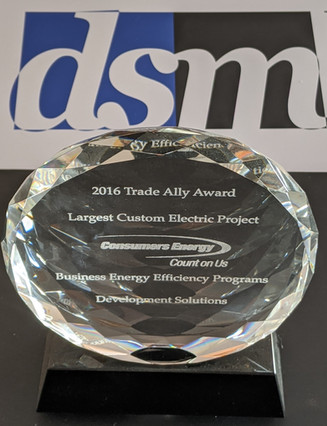2016 CONSUMERS ENERGY LARGEST CUSTOM ELECTRIC PROJECT
