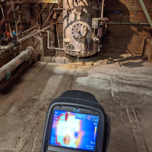 Blowdown tank heat recovery
