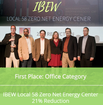 "2018 ""BIGGEST LOSER"" - 1st PLACE: IBEW LOCAL 58 ZERO NET ENERGY CENTER - US GREEN BUILDING COUNCIL"