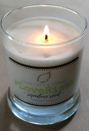 Glass Soy Candle: SIGNATURE SCENT: #LOVERISES