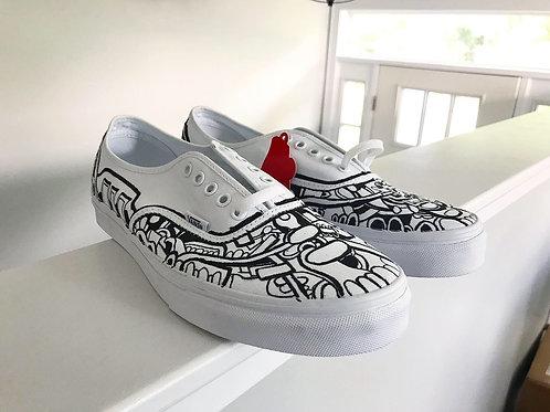 Custom Black and White Vans