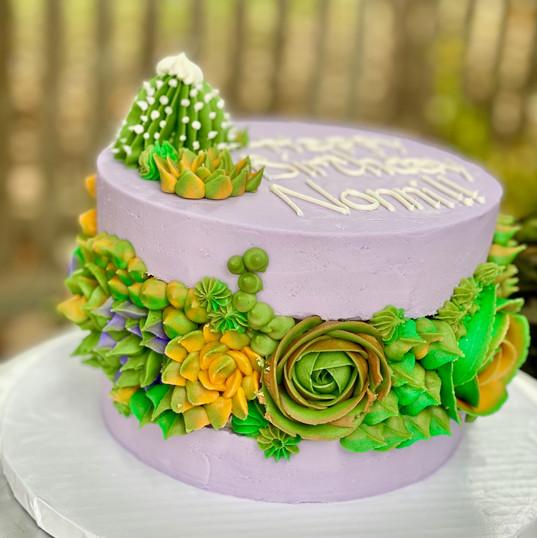 Succulent Fault Line Cake