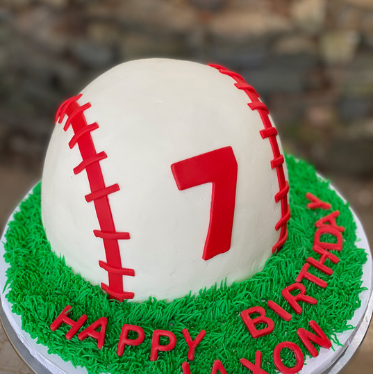 Ice Cream Baseball Cake