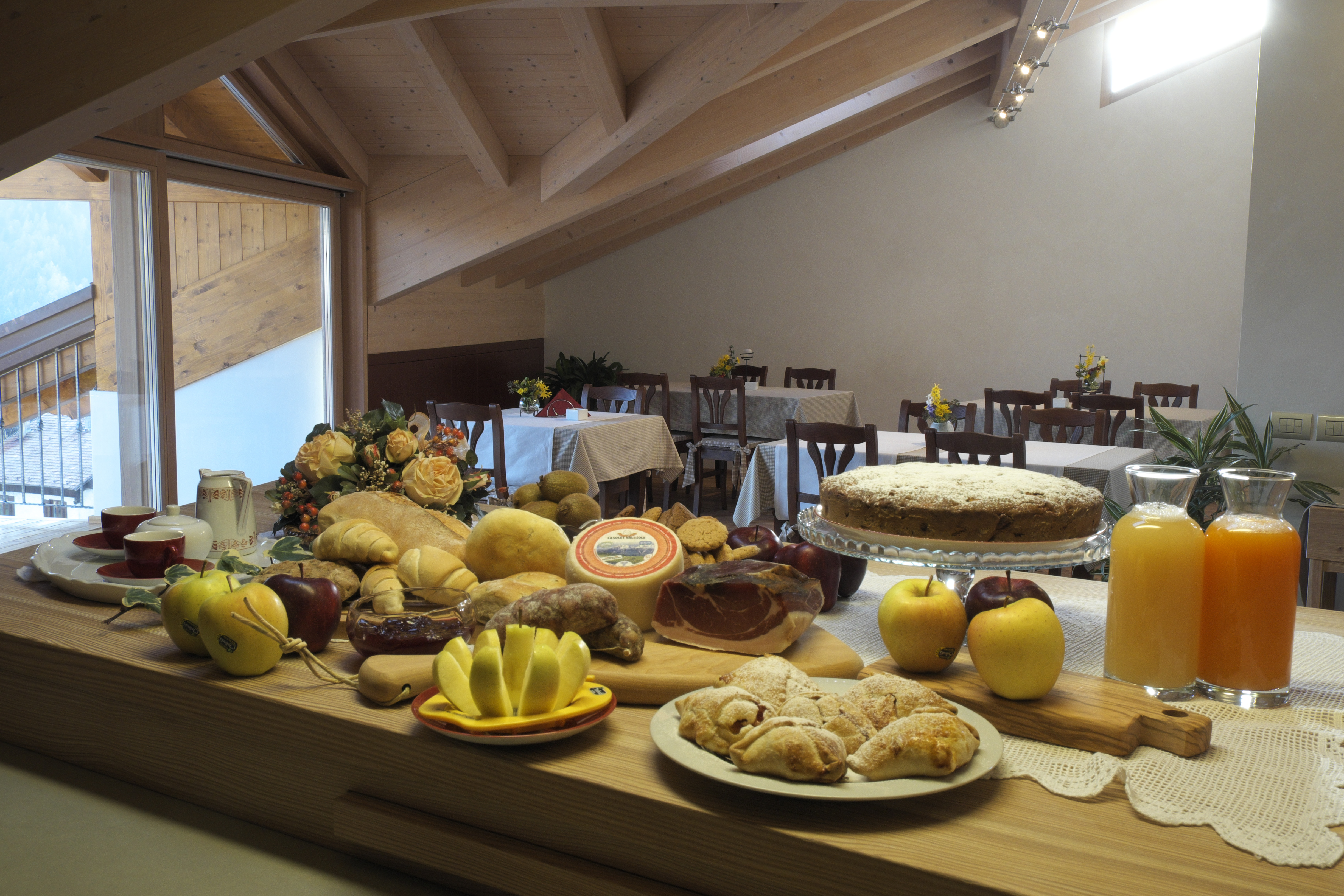 local food, sweets and cakes