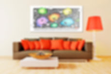 couch red pillows Gigglefit lamp living room