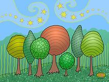Trees, Summertime, Stars