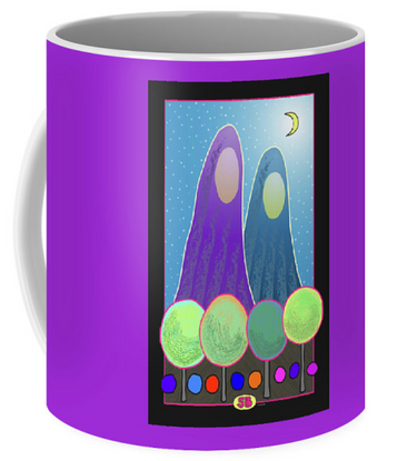 """""""Sacred Mountains"""" on a mug"""