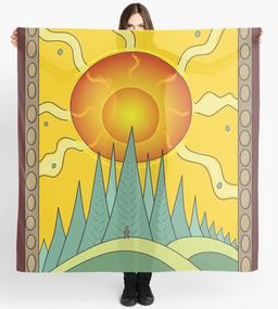 """The Great Sun"" scarf"