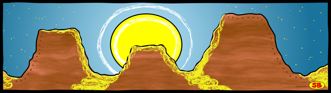"""Mesa Moonrise"""