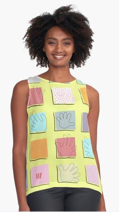 """Just Sayin' Hi Yellow"" sleeveless top"
