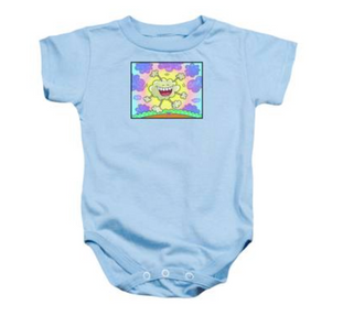 Laugh The Blues Away on a onesie