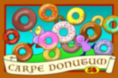 Carpe Donutum donuts elves brown blue
