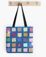 """Just Sayin' Hi Blue"" tote"