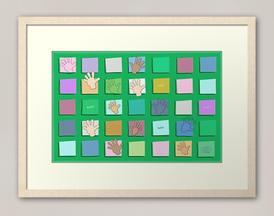 """Just Sayin' Hi Green"" framed print"