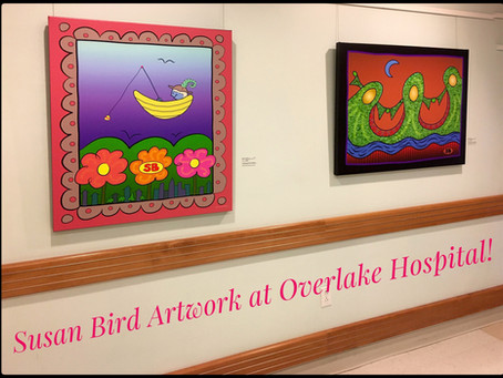 Susan Bird Artwork in the hospital!