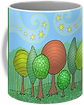 My Family, trees, coffee mug, Susan bird artwork