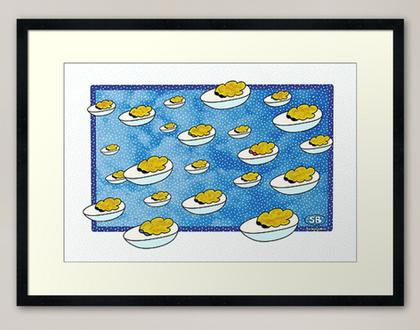 """""""Parade of Devilled Eggs"""" framed print"""