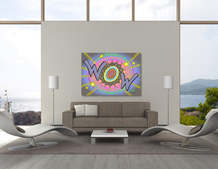"""Wow in the Sky"" metal print"