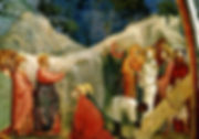 Painting of the Raising of Lazarus by Italian renaissance artist Giotto Di Bondone, 1320s, courtesy of www.giottodibondone.org